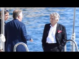 Roman Polanski sails on a speed boat in Cannes