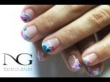 Дизайн гель-лаком на коротких ногтях к Дню Cв. Валентина  Valentine's Day Nails
