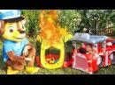 Гонщик и Маршал Щенячий патруль Пожарная машина Видео для детей Marshall Paw Patrol Fire Truc...