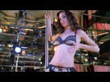 Odette Annable Lace Bra and Panties Pole Dance from Group Sex (1080p)