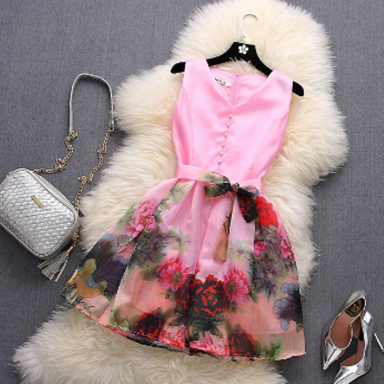 Модное платье 4 расцветки