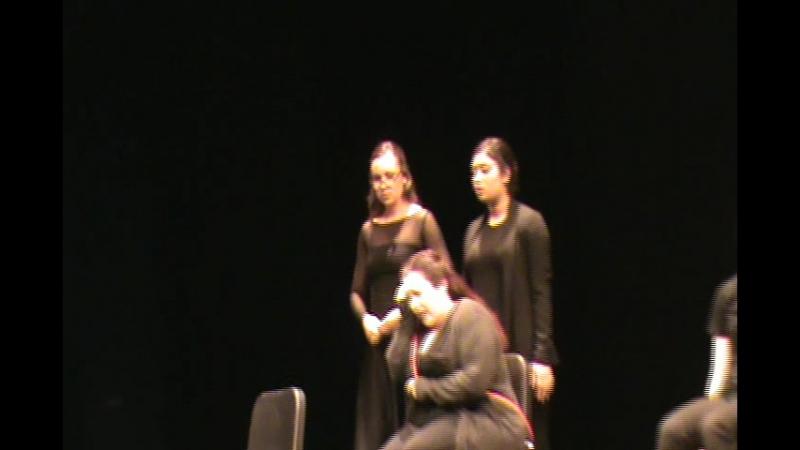 Племяшка Сашка выступает на оперном концерте в универе
