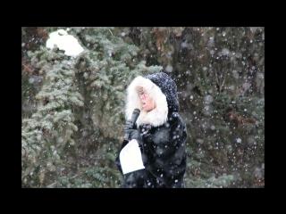 Мария Берсенёва на митинге 12.11.16 Алое поле.
