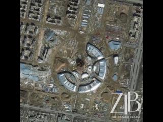 Ход строительства объектов выставки ЭКСПО  вид из космоса