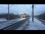 ЭД4М-0390 |ТЧ-10 Москва-2| на перегоне Лосиноостровская-Мытищи