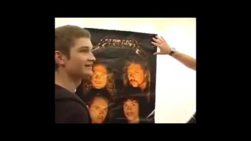 James Hetfield Jokes About An Old Metallica Poster
