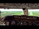 Boeing 747-400F Rainy Landing in Lusaka, Zambia - Cockpit View w/ ATC