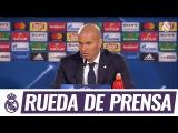 Главный тренер Реала Зинедин Зидан рассказал о матче плей-офф Лиги чемпионов против Наполи (31).