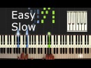 Gravity Falls - Theme - Piano Tutorial Easy SLOW - How To Play Synthesia