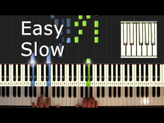 Gravity Falls - Theme - Piano Tutorial Easy SLOW - How To Play (Synthesia)