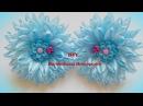 Цветок из узкой ленты 6 мм /Hair bow satin ribbon 6 mm