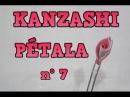 PÉTALA KANZASHI COM FORMATO DE ROSA n° 7