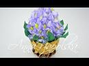 Писанка Бузок канзаши Пасхальное яйцо Сирень своими руками Easter egg Lilac kanzashi