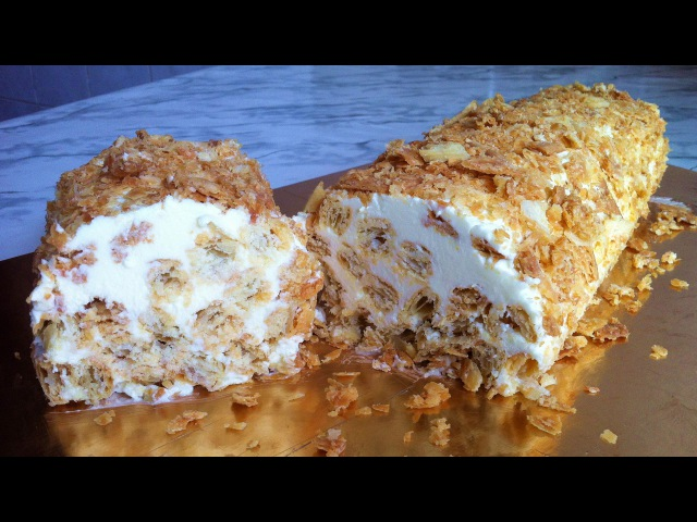 Торт Полено из Слоеного Теста (Очень Вкусно) / Слоеный Торт / Simple Cake Recipe / Простой Рецепт
