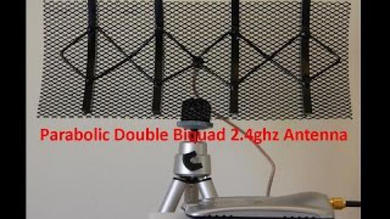 Parabolic Double Biquad 2 4ghz