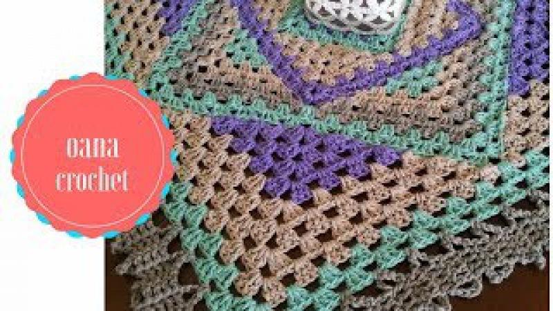 Granny square diamond crochet tecnique by Oana