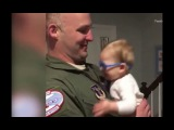 VIDEO Baby sees dad for first time with glasses after military homecoming