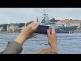 Владимир Владимирович Путин и Сергей Шойгу принимают парад ВМФ в СПБ