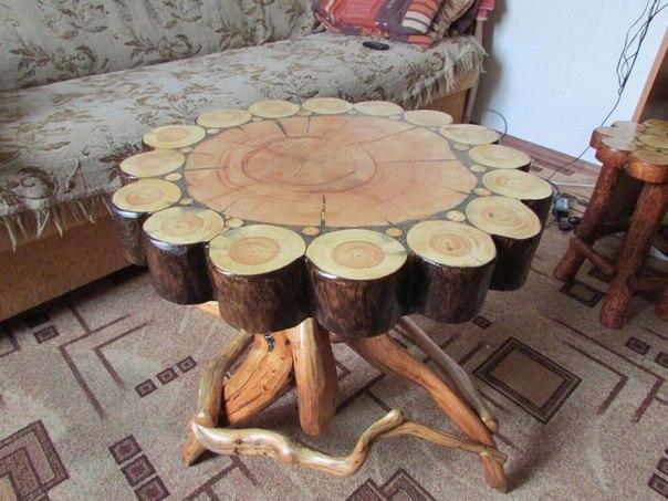 Столы из спилов сосны, кедра и карагача. Блог строителя
