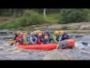 Сплав на рафте по реке Шуя (Карелия, сентябрь 2017). Я в красном шлеме