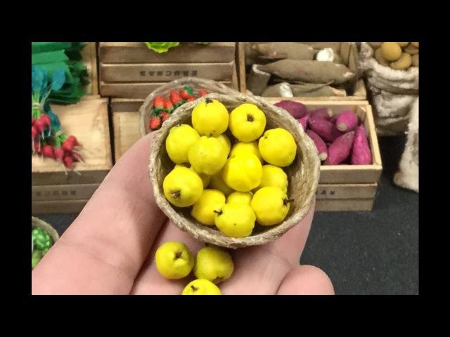 Membrillo miniatura . Miniature quince fruit . Tutorial miniatura.