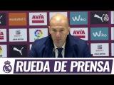 Главный тренер Реала Зинедин Зидан рассказал о матче чемпионата Испании против Эйбара (41).