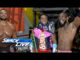 The New Day celebrate their SmackDown Tag Team Title victory SmackDown LIVE Fallout, Sept. 12, 2017