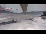 Новейшие Су-35С ведут воздушный бой на малых высотах эксклюзивные кадры