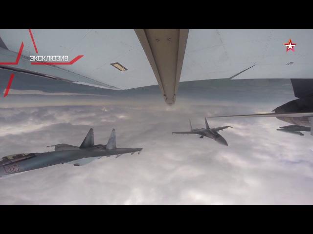 Новейшие Су-35С ведут воздушный бой на малых высотах: эксклюзивные кадры
