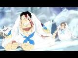 One Piece - Marineford War Blackbeard Uses The Yami-Yami &amp Gura Gura Devil Fruit Powers