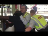 'This is racism!' German inspectors brutally remove a ticketless passenger