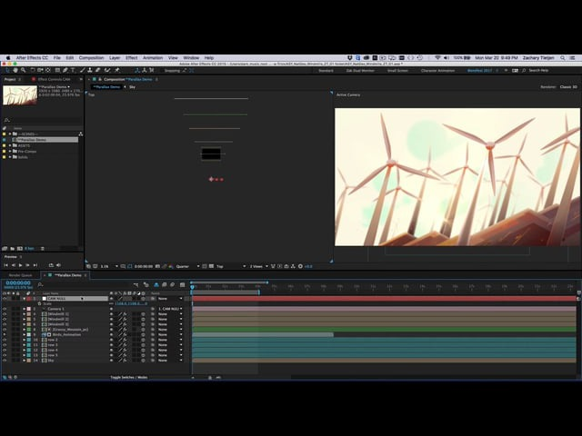 Quick Parallax Rig for After Effects