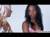 blonde kissing black lesbians