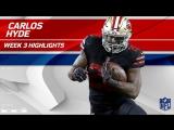 Carlos Hyde Powerful 2 TD Game! - Rams vs. 49ers - Wk 3 Player Highlights