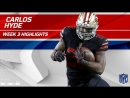 Carlos Hyde Powerful 2 TD Game! - Rams vs. 49ers - Wk 3 Player Highlights