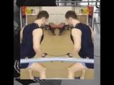 Тренировка грудных мышц и  спины 16.04.17