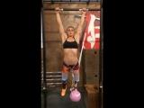 Aleksandra Albu doing pullups - YouTube
