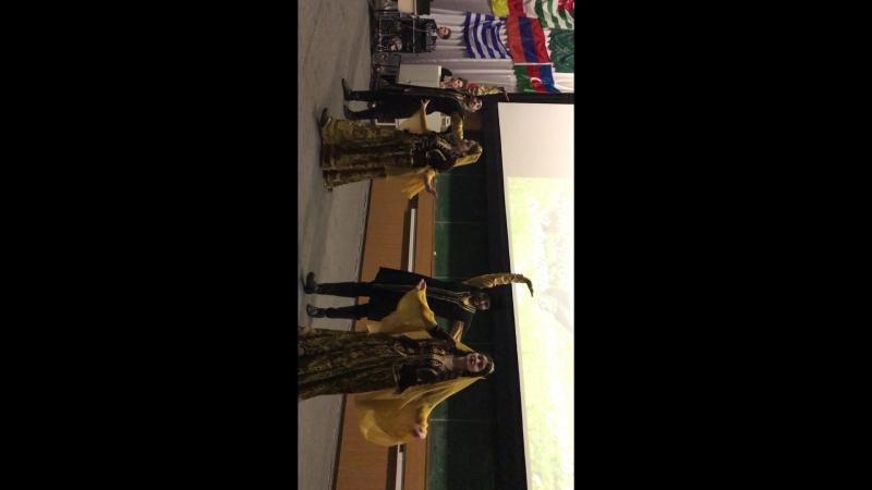Танец Uzun dere - Гасанов Саид, Алиев Аламдар, Ильясова Гызбала, Гашимова Гамая