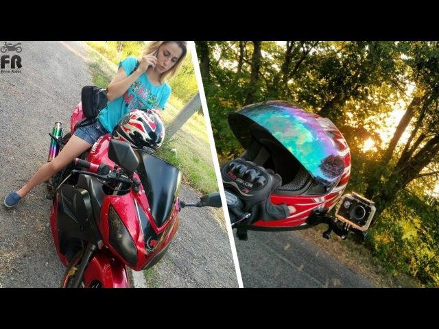 Девушка катает меня на мотоцикле 10 | Юбилейная часть | Девчонка за рулем байка