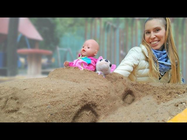 Parco giochi per bambini-Come Mamma nuovi episodi macchina di sabbia-Video con bambola Nenico