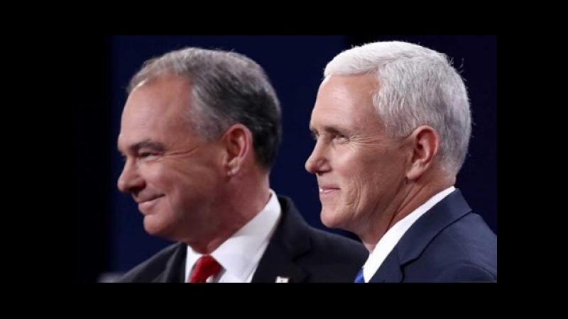 Дэбаты кандыдатаў на пасаду віцэ прэзідэнта I Человека Трампа закидали балалайками Свет