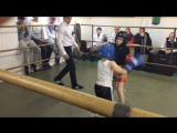 турнир в Лиде,,Максим Карпович проводит свой первый бой,,8 лет ...занимается 2 месяца... синий угол