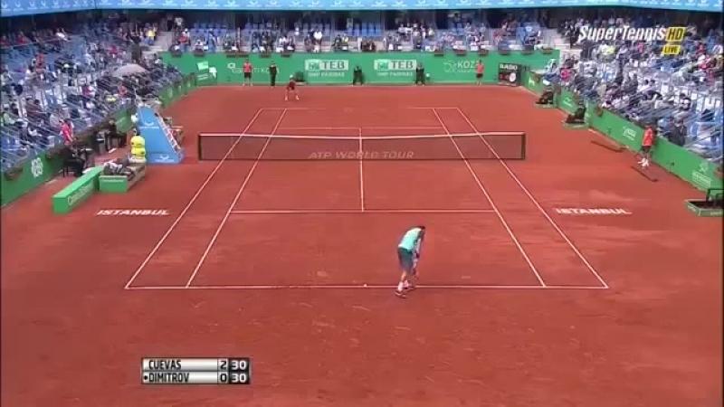 Grigor Dimitrov vs. Pablo Cuevas 2-6, 4-6 TEB BNP Paribas Istanbul Open (SF) 02.05.2015.