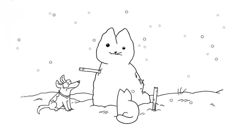 Кот Саймона / Simon's Cat - 49 серия (Snow Cat / Снеговикот)