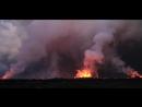 Извержение вулкана. Cъёмка с вертолета