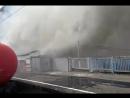 Пожар на Киевском вокзале в Москве