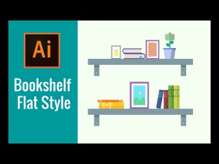 Adobe Illustrator Tutorial | Bookshelf (Khmer)