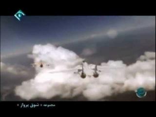 Iranian F-14 air combat against Iraqi MiG-21 in Iran-Iraq war