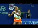 Большой Теннис Видео Урок удар справа Серена