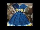 Платье на девочку крючком Часть № 3. Мастер класс